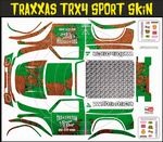Green Rusted Speed Shop Themed Vinyl SKIN Kit & Stickers Fits R/C Traxxas TRX4 Sport Rock Crawler